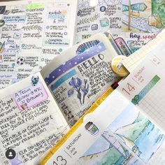Thank you for sharing these beautiful overviews! Watercolor Stickers, Washi, Bullet Journal, Personalized Items, Day, How To Make, Beautiful