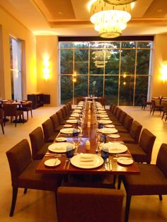 Family Style set ups at Flavours Restaurant