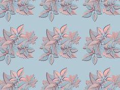 """""""blue leaf"""" by cysia autumn, blue, color, colors, leaf, palette, purple"""