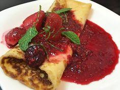 Receita de uma sobremesa deliciosa: Crepe Doce de Frutas Vermelhas