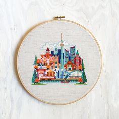 Pretty Little Toronto - Modern Cross Stitch Pattern PDF - Instant download