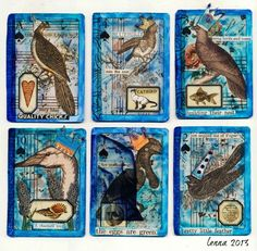 Fabulous ATCs made by Lenna Young Andrews