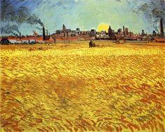 Summer Evening, Wheatfield with Setting Sun  ~ Vincent van Gogh
