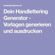 Dein Handlettering Generator - Vorlagen generieren und ausdrucken