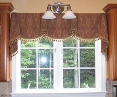 Sheffield Valance Would look nice over a large expanse of tall windows Valance Window Treatments, Window Treatments Living Room, Custom Window Treatments, Window Coverings, Victorian Window Treatments, Pelmet Designs, Curtain Designs, Cottage Curtains, Valance Curtains