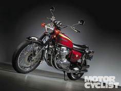 "Honda CB750: The legend itself. Honda's first ""super bike."""