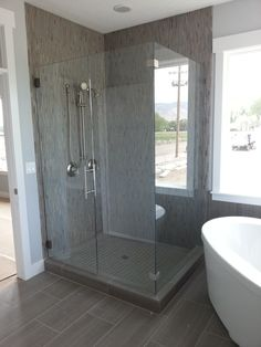 Frameless Shower Enclosure done by Tanner Glass and Hardware