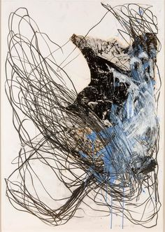 Ian McKeever - Untitled Drawing (9), 1985 /  from tout petit la planete