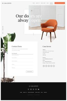 Contact page website design inspiration Website Design Inspiration, Website Design Layout, Layout Design, Website Designs, Ux Design, Form Design, Page Design, Modern Web Design, Wordpress