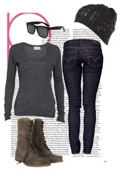 """""""CRIMINAL MINDS"""" by fuckyeahiambrunettebby ❤ liked on Polyvore featuring moda, Levi's, American Vintage, AllSaints, Firetrap y RetroSuperFuture"""
