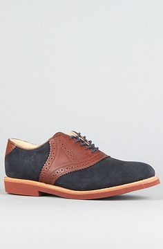 Classic Saddle Shoe - Navy Suede and Russet Saddle