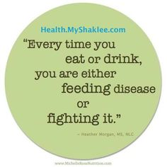 Every time you eat or drink, you are either feeding disease or fighting it. Double click this pin for Healthy options.
