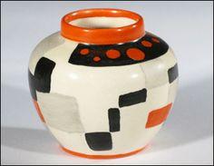 ceramics pottery | This 3-inch Clarice Cliff Café miniature vase sold by Woolley and ...