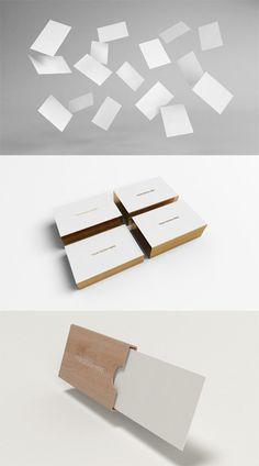 3 Business Cards Mock up PSD