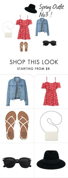 Spring Outfit No3 by vas0an on Polyvore featuring H&M, Billabong, Nine West and Maison Michel