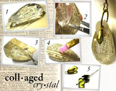 how-to: collaged chandelier crystals {ornamentea}