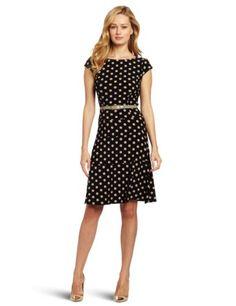 AK Anne Klein Women`s Dime Dot Swing Dress - List price: $119.00 Price: $98.93 Saving: $20.07 (17%) + Free Shipping