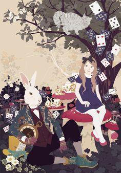 "fairytalemood: ""Alice's Adventures in Wonderland"" by Katogi Mari"