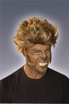 Image result for easy mens werewolf makeup.