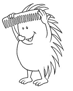 Hedgehog Comb His Spine Colouring Pages Coloring Page : Bulk Color Colouring Pages, Coloring Pages For Kids, Coloring Books, Online Coloring, Silhouette Art, Autumn Activities, Have Some Fun, Drawing For Kids, Rooster