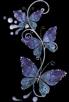 gif papillon · The darkness purple Butterfly Wallpaper, Butterfly Flowers, Beautiful Butterflies, Purple Butterfly Tattoo, Cute Wallpapers, Wallpaper Backgrounds, Iphone Wallpaper, Fractal Art, Fractals