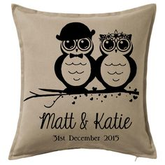 Owl Bride & Groom Printed Cushions, Love And Marriage, Bride Groom, Owl, Colours, Throw Pillows, Prints, Cushions, Owls