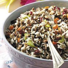 Company Rice Recipe -This colorful side dish is a proven favorite with family and friends. One of my late son's friends always requested 'that rice' when he came over for dinner. It's delicious served with grilled salmon, beef, turkey, lamb roast or ham. – Jayne Shiley, Campbellsport, Wisconsin Wild Rice Recipes, Healthy Recipes, Apple Recipes, Salmon Recipes, Delicious Recipes, Beef Recipes, Easy Recipes, Cooking Recipes, Vegetable Side Dishes