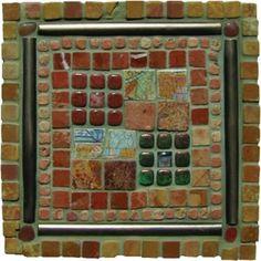 Mosaic Madness Rojo-Giallo Raku Pebble 8 x 8 Hand Painted Ceramic Tile Painting Ceramic Tiles, Ceramic Mosaic Tile, Mosaic Madness, Complimentary Colors, Handmade Tiles, Hand Painted Ceramics, Dusty Rose, My Favorite Color, Art Forms