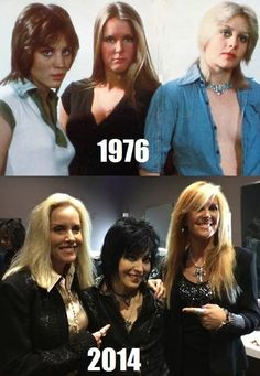 The Runaways then and now - Cherie Currie, Joan Jett, Lita Ford