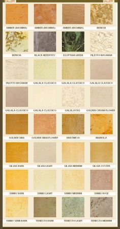 Some types of marble