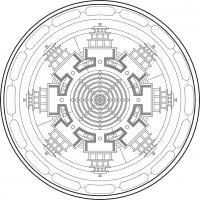 Mandala Mahasamvara. Para imprimir, colorear, pintar.