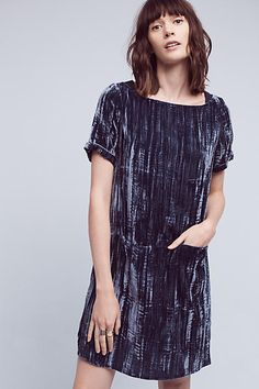 Crinkled Velvet Tunic