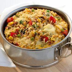 Gemüse-Reis-Frittata