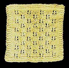Free Butterfly Lace Stitch Cloth Knitting Pattern.