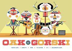 Oak and Gorski - Gig Poster by TheBeastIsBack.deviantart.com