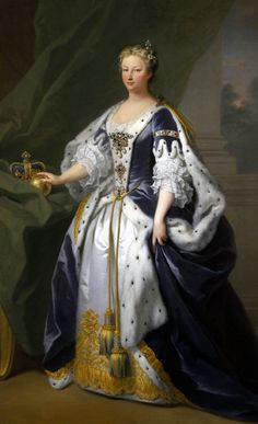 """rococophile: """" Sir Godfrey Kneller Portrait of Wilhelmina Charlotte Caroline of Brandenburg-Ansbach, later Princess of Wales, finally Queen of Great Britain and Ireland and Electress of Hanover. Historical Costume, Historical Clothing, 18th Century Fashion, 17th Century, Herzog, Glamour, Fashion History, Adele, Vintage Ladies"""