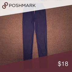 High waisted pleather tights No pockets. Worn once. Stretchy material (spandex) Fashion Nova Pants Leggings