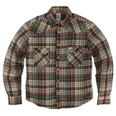 Topo Designs Plaid Western Shirt Brown Made in USA