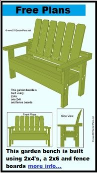 Shed Plans - DIY Garden Bench - PDF Download - Now You Can Build ANY Shed In A Weekend Even If Youve Zero Woodworking Experience!