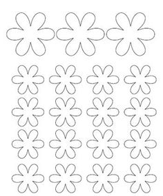 Squish Preschool Ideas: May-Flower Crafts Seed Bead Flowers, Felt Flowers, Diy Flowers, Paper Flowers, Felt Flower Template, Leaf Template, Printable Shapes, Templates Printable Free, Flower Crafts