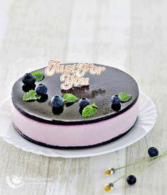 No-Bake Blueberry Yogurt Cheesecake 免考蓝莓优格芝士蛋糕