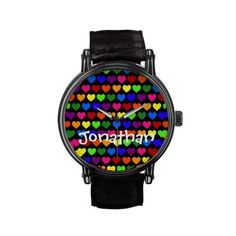 Tiny Rainbow Hearts Watches $56.95 Whether you're out, or not, or just like Rainbows, these tiny rainbow colored hearts will make any smile. Five colored hearts alternating in a tiled pattern. Typically used by the LGBT community, spreading love, diversity, and acceptance. Whether you are a heart lover, a rainbow lover, or part of an alternative lifestyle, this design is meant for all!