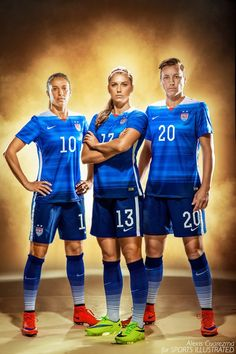 Going of the GOLD! Game day today. My portrait of Carli Lloyd, Alex Morgan andAbby Wambach for Sports Illustrated. Alexis Cuarezma - Photographer.