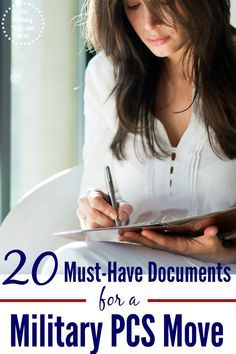 Preparing for a military PCS move? Here are 20 documents that will save your sanity and keep things running smoothly during the military PCS move.