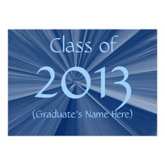 Blue Star 2013 Graduation Announcement Designed by Just For Mom $2.05