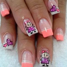 French Pedicure, Manicure And Pedicure, Cute Nail Art, Cute Acrylic Nails, Ruby Nails, Stylish Nails, Love Nails, Makeup Art, Nail Colors