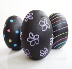 Chalkboard Easter Eggs - Chalkboard paint is a huge trend right now. Add some to your Easter eggs for a fun and unique craft you can make with kids.