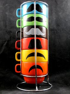 2012 Mustache Mug set