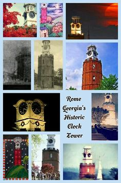 Rome GA iconic city symbol The historic Clock Tower of Rome was initially a water reservoir for downtown residents.