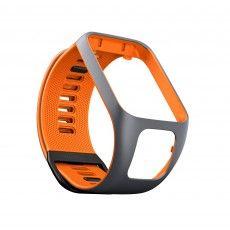 TomTom Runner 3 en Spark 3 horlogebandje small grijs oranje
